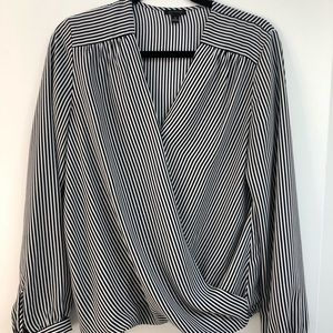 Beautiful cross over Ann Taylor blouse!